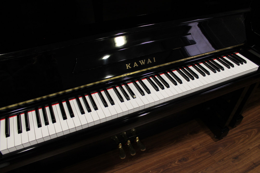Kawai (c1962) A Model K-20 upright piano in a bright ebonised case. - Image 4 of 5