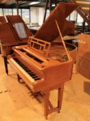 Gors & Kallmann (c1920's) A 5ft 2in grand piano in a satinwood case on dual square tapered legs;