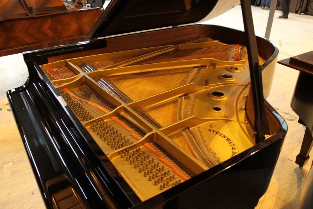 Steinway (c1966) A 6ft 2in Model A grand piano in a bright ebonised case on square tapered legs. - Image 3 of 4