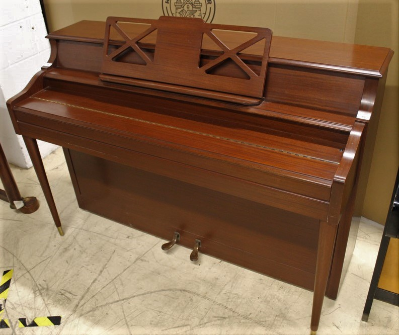 Knight (c1972) An upright piano in a colonial style mahogany case. - Image 2 of 5