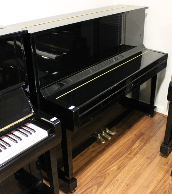 Miki A 121cm Model MU1D upright piano in a bright ebonised case. - Image 2 of 5