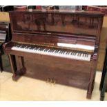 Bechstein (c2001) A Model Concert 8 upright piano in a vavana burl wood case