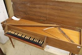 Alec Hodsdon Virginal A virginal in a light wood case on turned fluted legs,