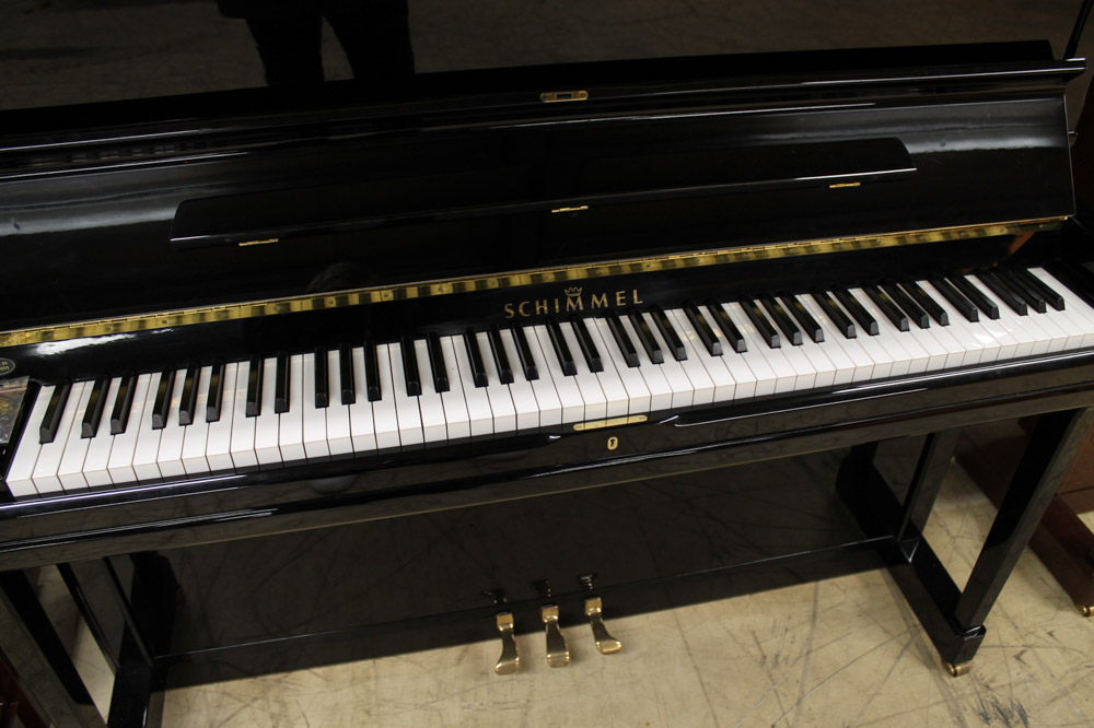 Schimmel (c1995) A Model 130 upright piano in a bright ebonised case. - Image 4 of 5