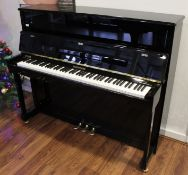 Hoffmann (c2015) A Model Vision 120 upright piano in a traditional bright ebonised case;
