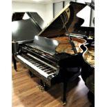 Fazioli (c2003) A 6ft Model F183 grand piano in a bright ebonised case on square tapered legs.