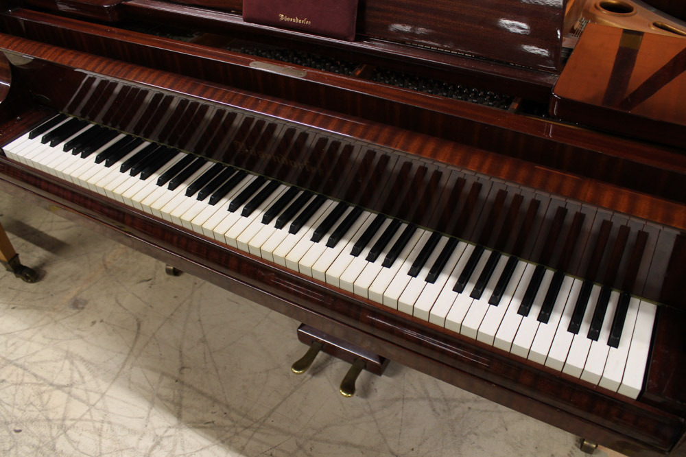 Bosendorfer (c1971) A 6ft 7in grand piano in a bright mahogany case; together with a stool. - Image 3 of 5