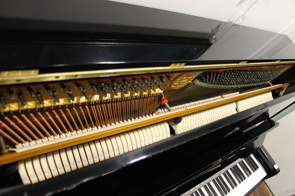 Kawai (c1961) A Model K-8 upright piano in a bright ebonised case. - Image 3 of 5
