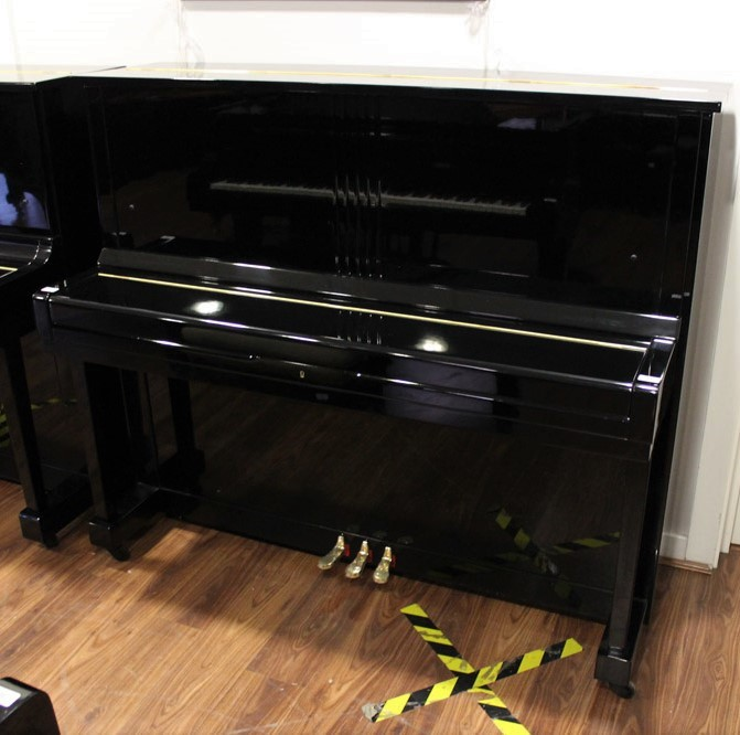 Kawai (c1961) A Model K-8 upright piano in a bright ebonised case. - Image 2 of 5