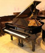 Yamaha (c2009) A 6ft 11in Model S6 grand piano in a bright ebonised case on square tapered legs;