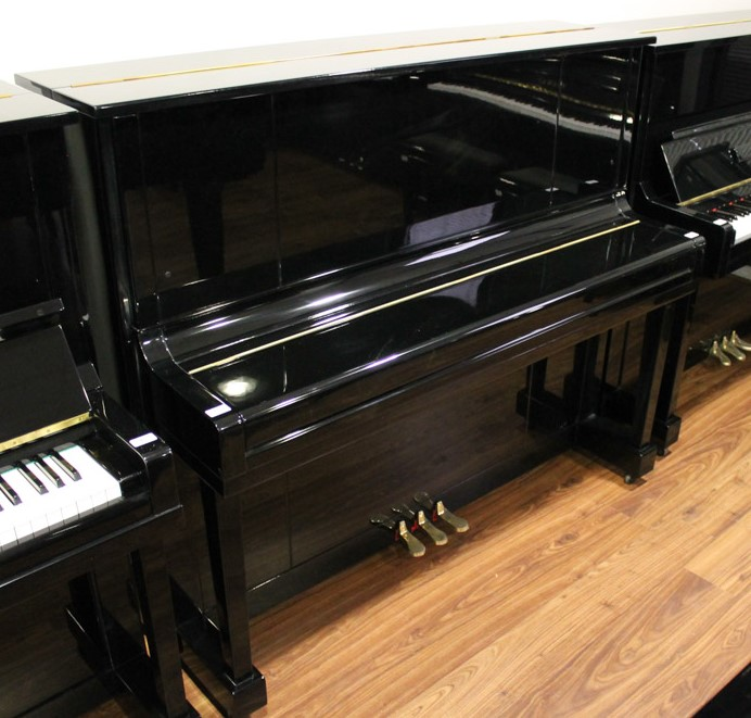 Kawai (c1962) A Model K-20 upright piano in a bright ebonised case. - Image 2 of 5