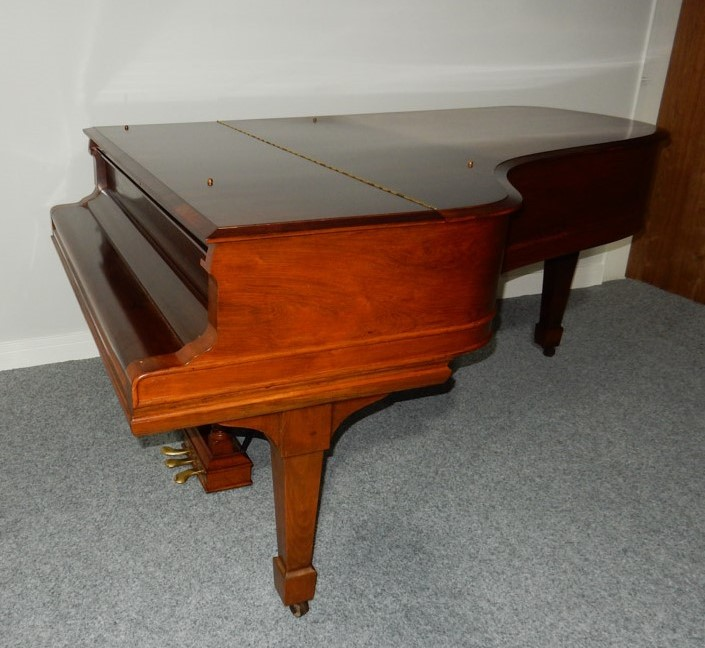 Steinway (c1900) A 6ft 11in 88-note Model B grand piano in a rosewood case on square tapered legs. - Image 5 of 6
