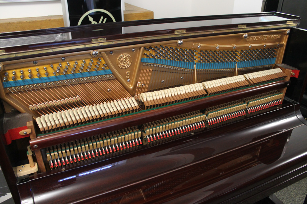 Bechstein (c1920's) A Model 9 upright piano in a bright mahogany case. - Image 3 of 4