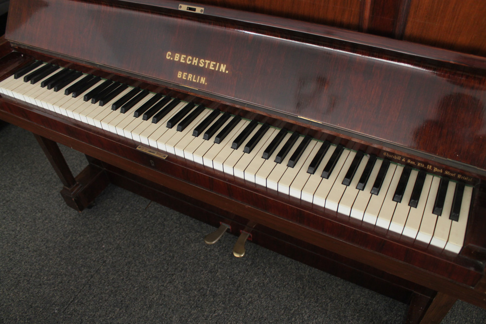 Bechstein (c1900) An upright piano in a rosewood case. - Image 3 of 4