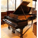 Grotrian Steinweg (c1981) A 9ft Model 275 grand piano in an ebonised case on square tapered legs.