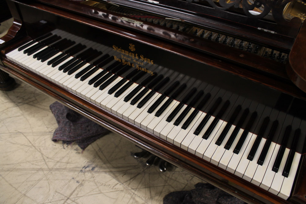 Steinway (c1891) A 6ft 11in 85-note Model B grand piano in a rosewood case on turned 'elephant' - Image 3 of 4