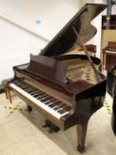 Steinway (c1937) A 5ft 1in Model S grand piano in a mahogany case on square tapered legs;