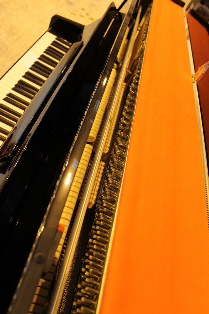 Kawai (c2007) A Model K-15 upright piano in a bright ebonised case; together with a stool. - Image 6 of 6