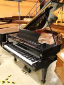 Brodmann (c2007) A 6ft 2in Model BG187 grand piano in a bright ebonised case on square tapered