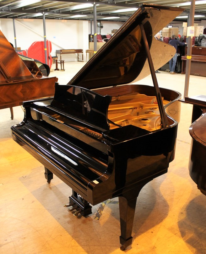 Steinway (c1966) A 6ft 2in Model A grand piano in a bright ebonised case on square tapered legs. - Image 2 of 4