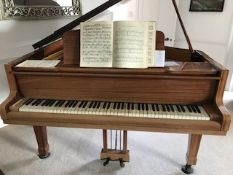 Blüthner (c1968) A 6ft 3in Aliquot strung grand piano in a bright mahogany case on square tapered