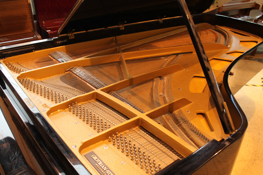 Grotrian Steinweg (c1981) A 9ft Model 275 grand piano in an ebonised case on square tapered legs. - Image 3 of 4
