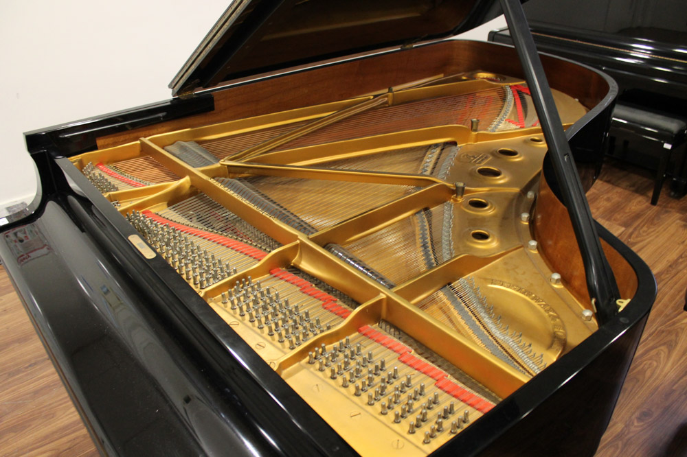 Steinway (c1971) A 6ft 11in Model B grand piano in a bright ebonised case on square tapered legs; - Image 2 of 4