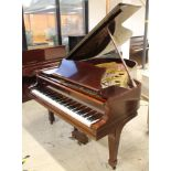 Steinway (c1927) A 5ft 10in Model O grand piano in an ebonised case on square tapered legs;