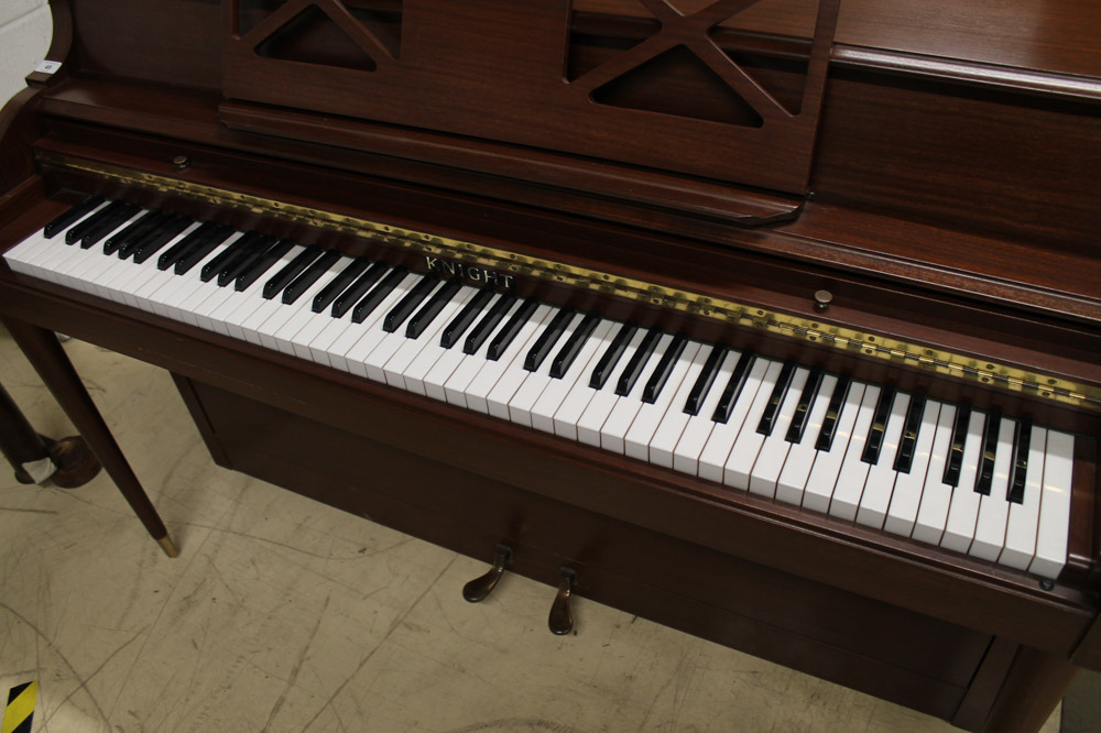 Knight (c1972) An upright piano in a colonial style mahogany case. - Image 4 of 5