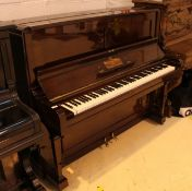 Steinway (c1901) A Vertegrand upright piano in a bright rosewood case;