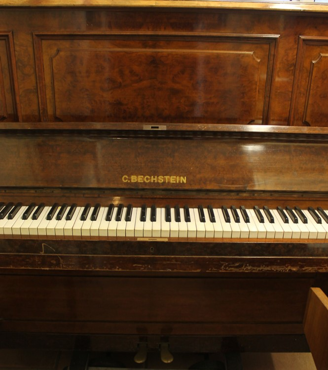 Bechstein (c1879) An upright piano in a figured walnut case. - Image 2 of 5