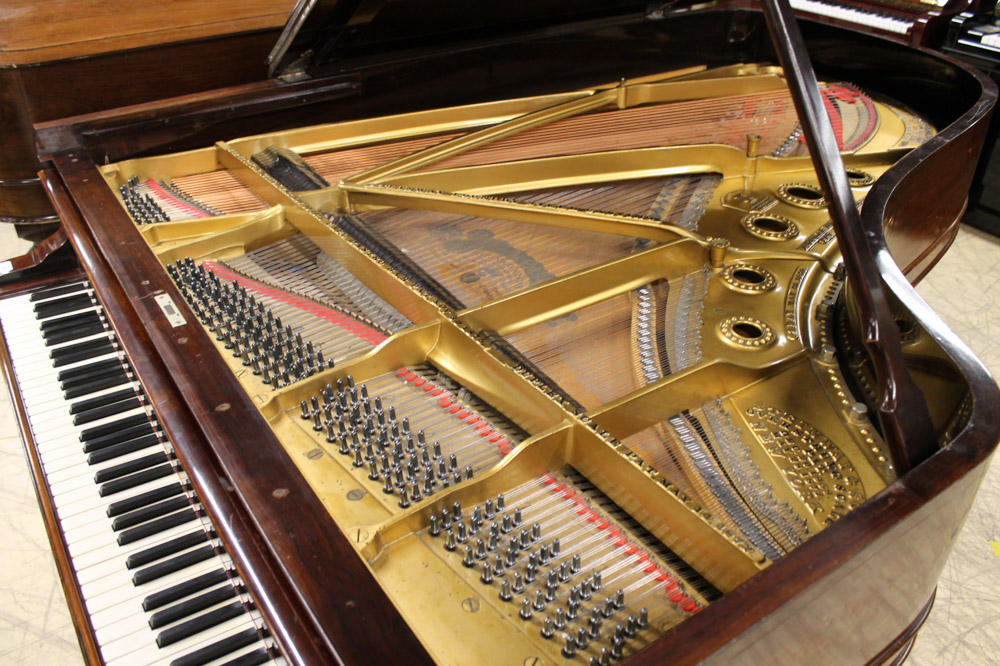 Steinway (c1891) A 6ft 11in 85-note Model B grand piano in a rosewood case on turned 'elephant' - Image 2 of 4