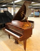 August Förster (c1986) A 5ft 7in grand piano in a bright mahogany case on square tapered legs;