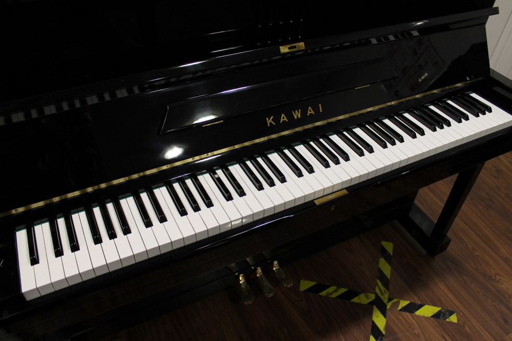 Kawai (c1961) A Model K-8 upright piano in a bright ebonised case. - Image 4 of 5