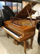 Blüthner (c1906) A 6ft 3in grand piano in a satin and boxwood strung case on dual square tapered