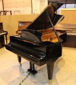 Bösendorfer (c1989) A 6ft 7in Model 200 grand piano in a bright ebonised case on square tapered
