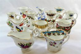 A collection of 12 Royal Worcester replica jugs from the 'Historic Jugs from the Royal Worcester