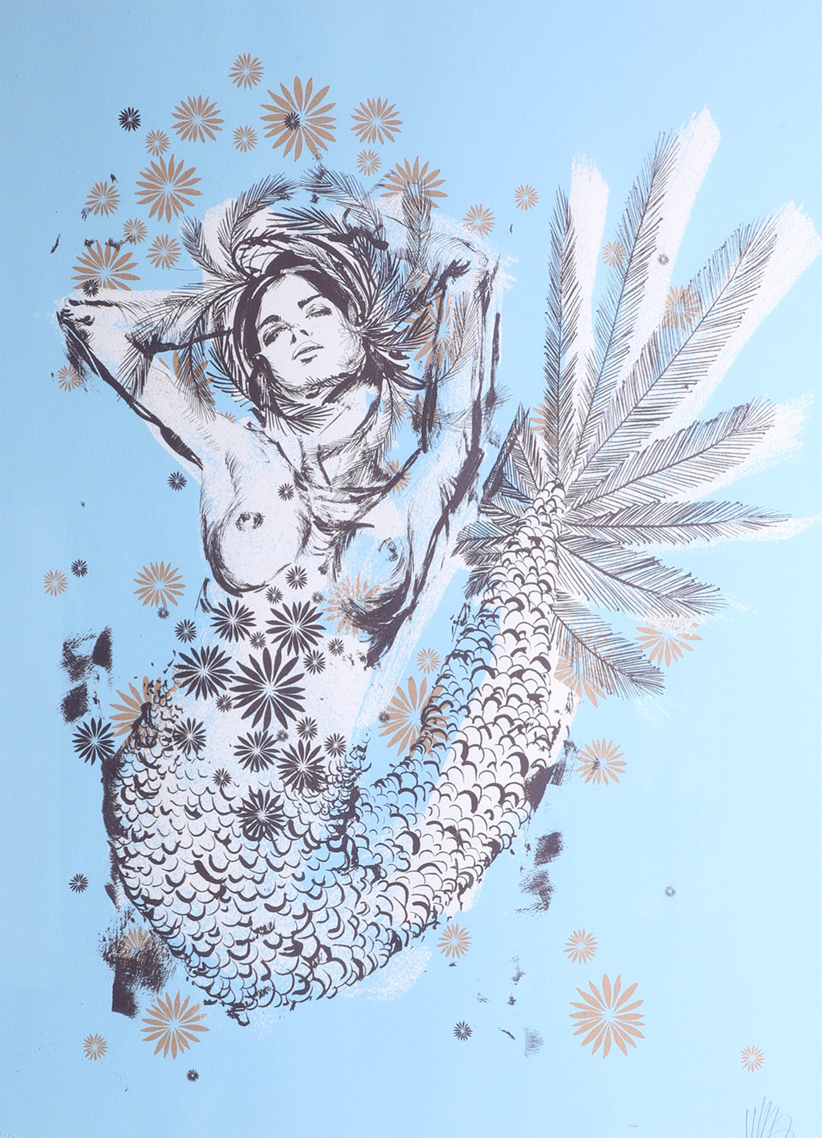 Lot 039 - Kelsey Brookes (US), limited edition print 'Mermaid', No 22/140, framed and glazed, overall size