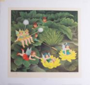 Beryl Cook (1926-2008), 'Fairies and Pixies', signed limited edition print, No 277/650, published by