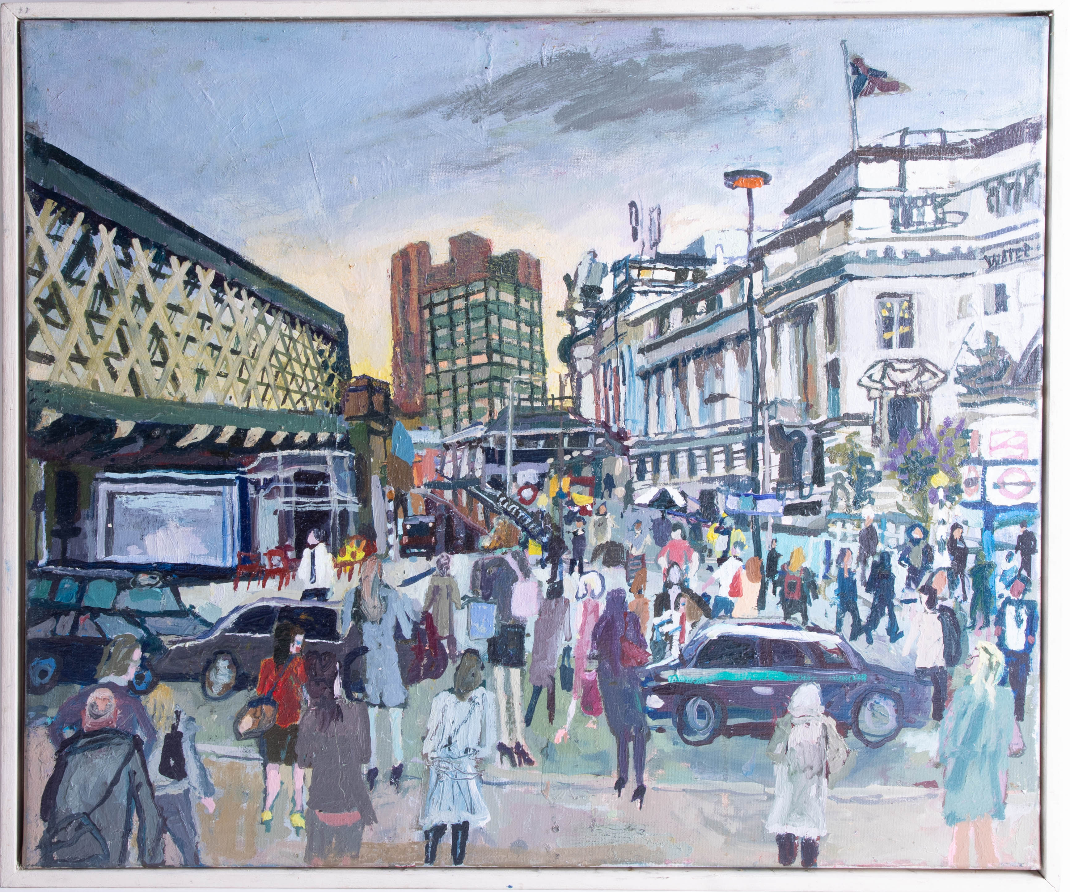 Lot 19 - Nicholas Borden, oil on canvas 'Waterloo, London' 50cm x 60cm signed to verso Exhibited 2003