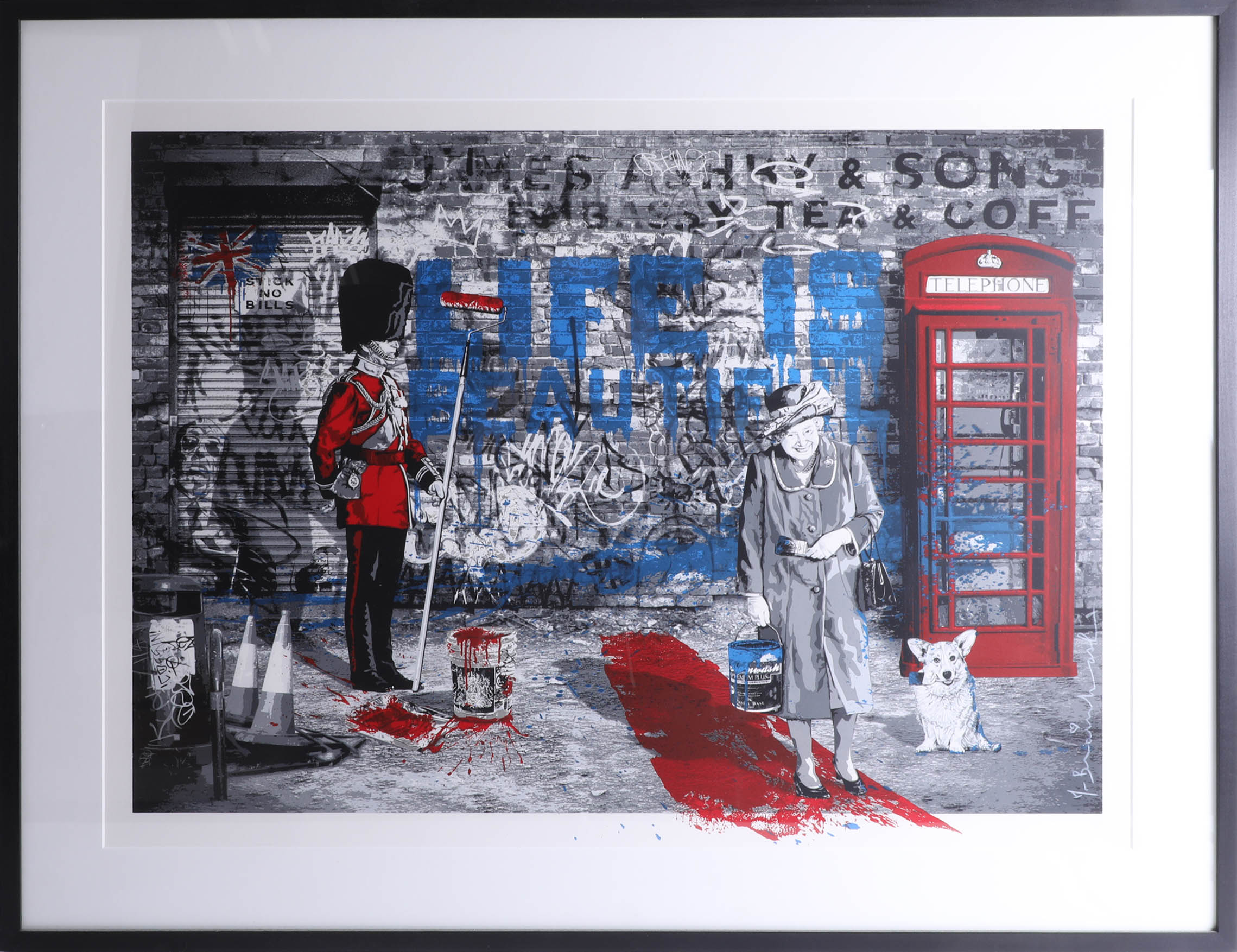 Lot 012 - Mr Brainwash, signed edition print, Jubilee, London 'Life is Beautiful', No. 51/150, 56cm x 76cm,