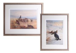 After Archibald Thorborn, pair of edition prints No 293/850 framed and glazed, 75cm x 57cm overall.