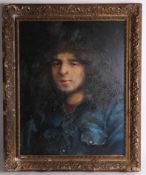 Robert Lenkiewicz (1941- 2002) early oil on board, titled verso 'Tony Prior, died of drug addiction,