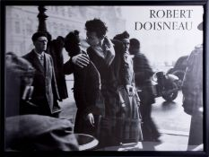 Robert Doisneau, 'The Kiss by the Town Hall, Paris 1950' photographic poster, framed and glazed,