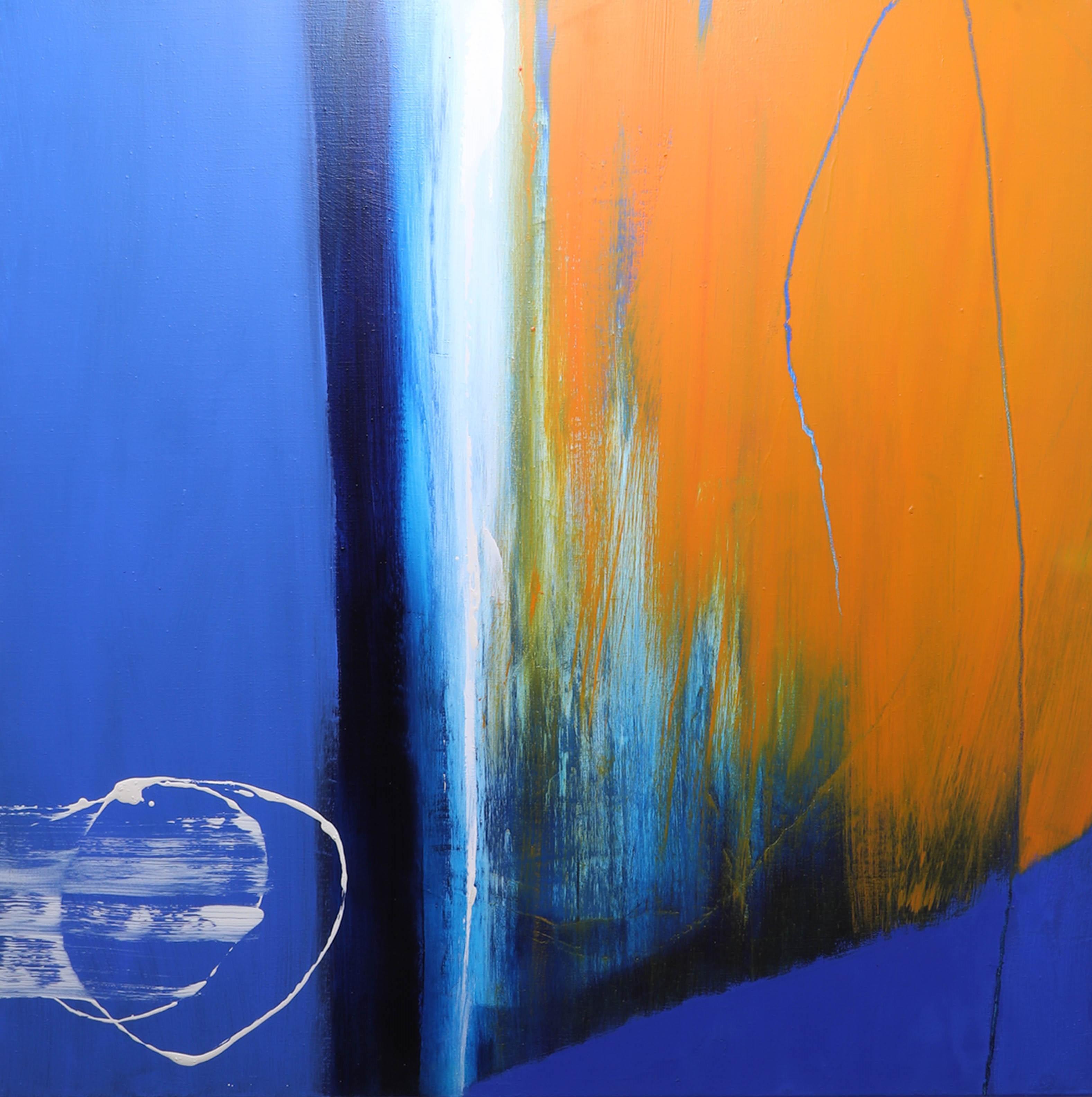 Lot 016 - Neil Canning (b 1960) oil on canvas, 'Vertigo', 91cm x 91cm, signed, in a floating frame,