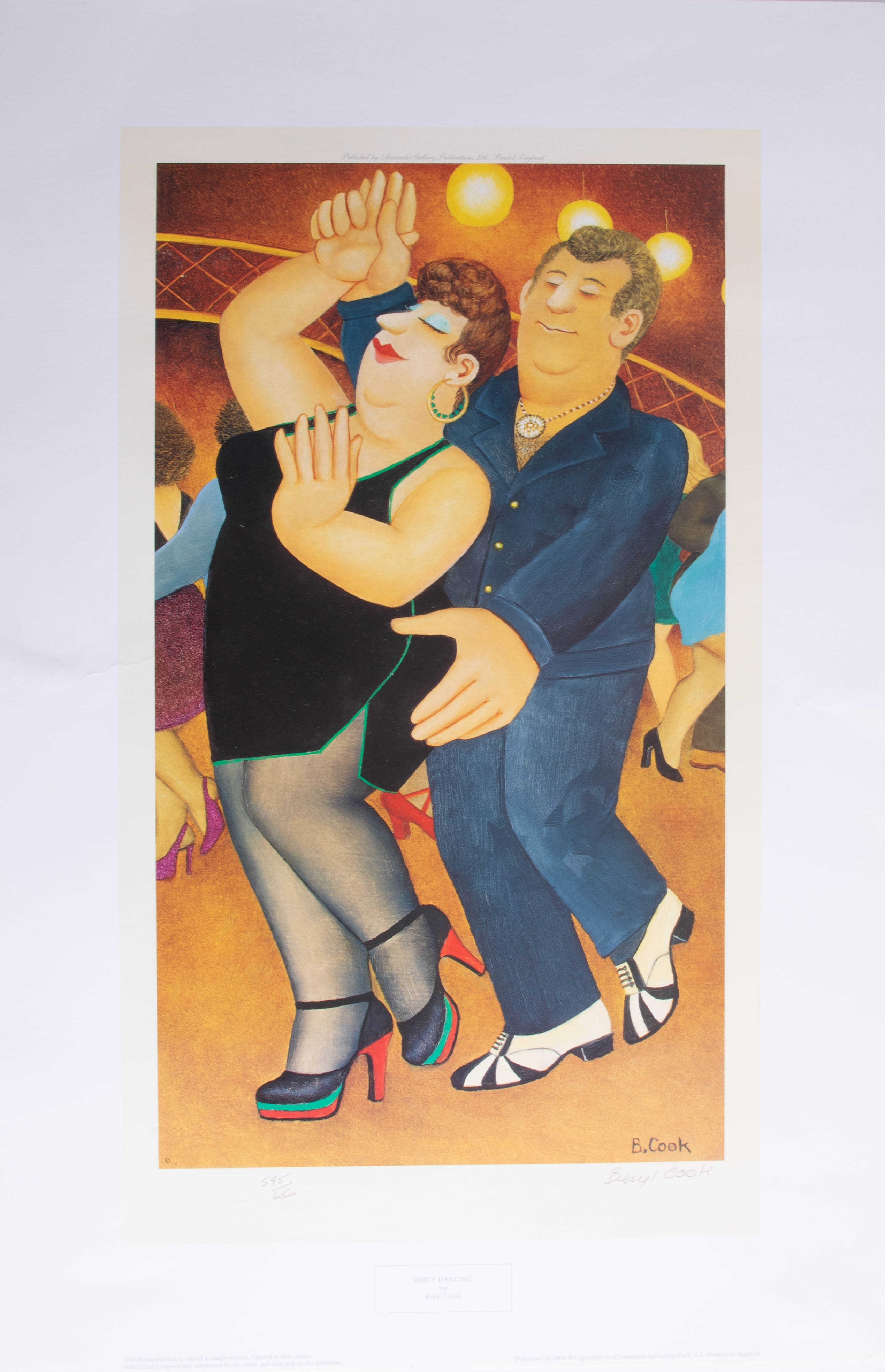 Lot 026 - Beryl Cook (1926-2008), 'Dirty Dancing' signed limited edition print, No 595/650, published by