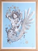 Kelsey Brookes (US), limited edition print 'Mermaid', No 22/140, framed and glazed, overall size