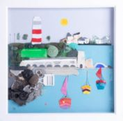 Serendipity (Laura Edmund), 'The Hoe', 28cm x 28cm, handmade from beach cleans i.e. Plastic, sea