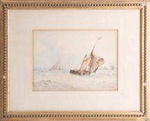 F.J. Aldridge (1850-1933) 19th/20th century signed marine watercolour, 19cm x 26cm together with