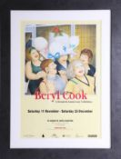 Beryl Cook, a poster, Plymouth Art Centre 20th Anniversary Exhibition with image of Hen Party 2,